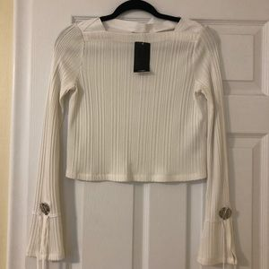 Phillip Lim cropped long sleeve top